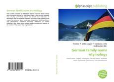 Borítókép a  German family name etymology - hoz