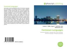 Обложка Formosan Languages