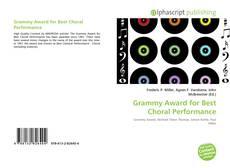 Обложка Grammy Award for Best Choral Performance