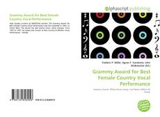 Grammy Award for Best Female Country Vocal Performance kitap kapağı