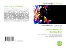 Bookcover of Horace Lecoq de Boisbaudran