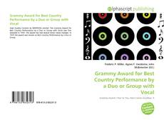 Buchcover von Grammy Award for Best Country Performance by a Duo or Group with Vocal