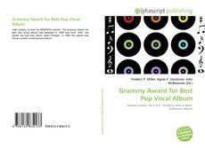 Bookcover of Grammy Award for Best Pop Vocal Album