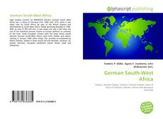 Bookcover of German South-West Africa