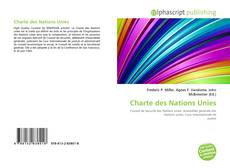 Bookcover of Charte des Nations Unies