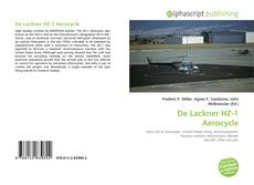 Bookcover of De Lackner HZ-1 Aerocycle