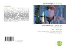 Couverture de Lev Landau