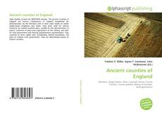 Bookcover of Ancient counties of England