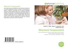 Bookcover of Meantone Temperament
