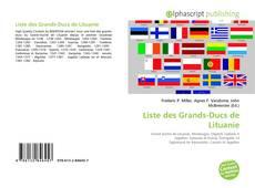 Portada del libro de Liste des Grands-Ducs de Lituanie