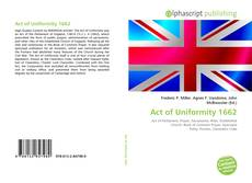 Bookcover of Act of Uniformity 1662