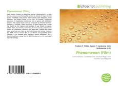 Phenomenon (Film) kitap kapağı