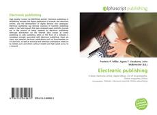 Обложка Electronic publishing