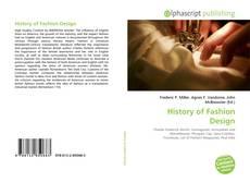 Bookcover of History of Fashion Design