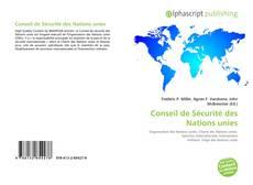 Bookcover of Conseil de Sécurité des Nations unies
