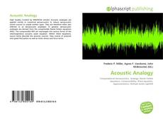 Bookcover of Acoustic Analogy