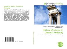 Couverture de History of science in Classical Antiquity