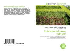 Bookcover of Environmental issues with war
