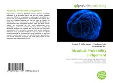 Bookcover of Absolute Probability Judgement