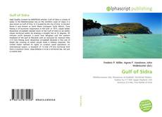Bookcover of Gulf of Sidra