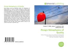 Bookcover of Pirsig's Metaphysics of Quality