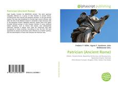 Bookcover of Patrician (Ancient Rome)