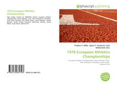 Bookcover of 1978 European Athletics Championships
