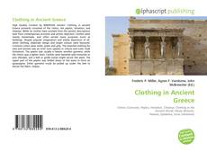 Couverture de Clothing in Ancient Greece