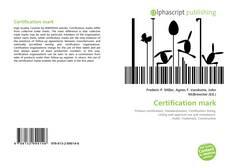 Buchcover von Certification mark