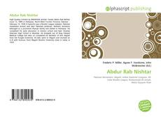 Bookcover of Abdur Rab Nishtar