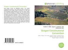 Couverture de Oregon Constitutional Convention