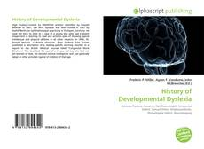 Bookcover of History of Developmental Dyslexia