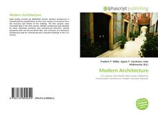 Buchcover von Modern Architecture