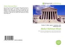 Abdur Rahman Khan的封面