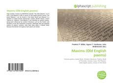 Bookcover of Maxims (Old English poems)