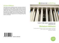 Bookcover of Dictature Militaire
