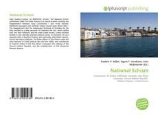 Capa do livro de National Schism