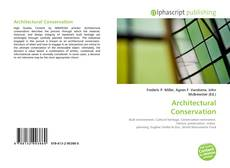 Bookcover of Architectural Conservation