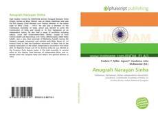 Anugrah Narayan Sinha kitap kapağı