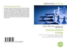 Bookcover of Feminist political ecology