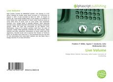 Portada del libro de Live Volume