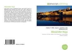 Alexander Hays kitap kapağı