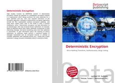 Bookcover of Deterministic Encryption