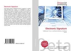 Обложка Electronic Signature