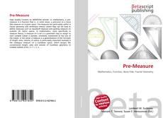 Bookcover of Pre-Measure