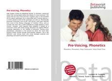 Buchcover von Pre-Voicing, Phonetics