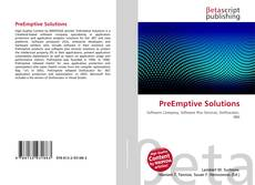 PreEmptive Solutions kitap kapağı