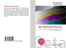 Bookcover of Rao–Blackwell Theorem