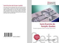 Saint-Évariste-de-Forsyth, Quebec的封面