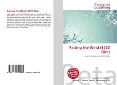Capa do livro de Raising the Wind (1925 Film)